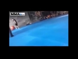 When mma fighters lose control! Chaos in the ring!