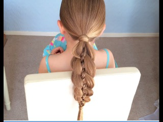 Four Strand Braid with Accent by SweetHearts Hair Design
