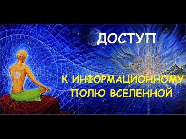 Доступ к информационному полю Вселенной Александр Салогуб
