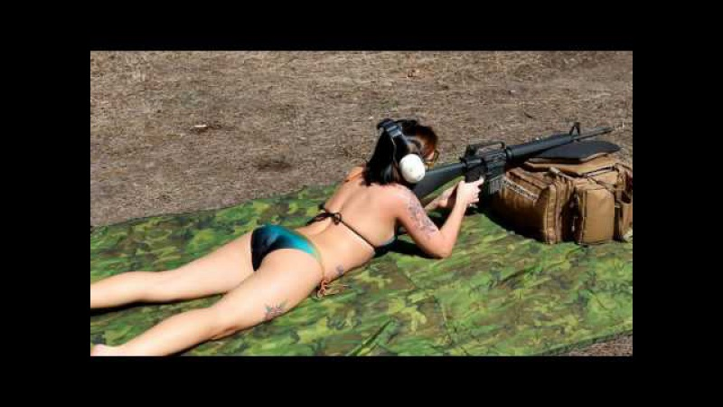 Hot Girls Shooting AR-15's Compilation