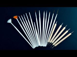 Все про кисти для дизайна ногтей | Кисти для маникюра