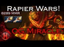 Miracle- Ember Spirit vs. Arc Warden Dota 2 | RAPIER WARS!