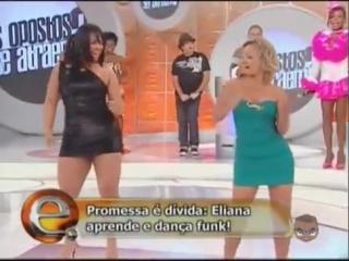 Eliana gostosa e mulher melancia andressa soares dançando funk sbt