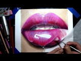 Drawing realistic glossy lips