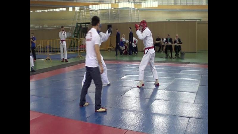 Победный бой Александра Фёдорова на Первенстве России по АРБ Омск 2016 год