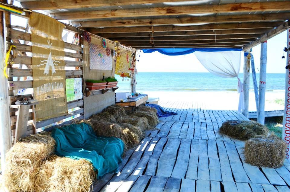 палаточный лагерь на Кинбурне
