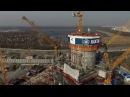 Строительство Лахта Центра. Набор высоты: Самоподъемная опалубка