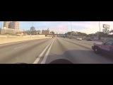 Мотоциклист показал фак менту
