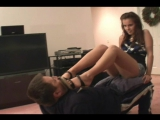 Jenna Footworship on a human chair #femdom #trampling #fetish #foot #ballbusting #footjob #facesitting #coons #socks #piss #fart