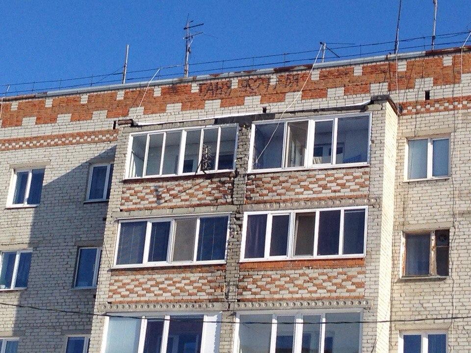В Тюмени рушится стена дома на ММС 4