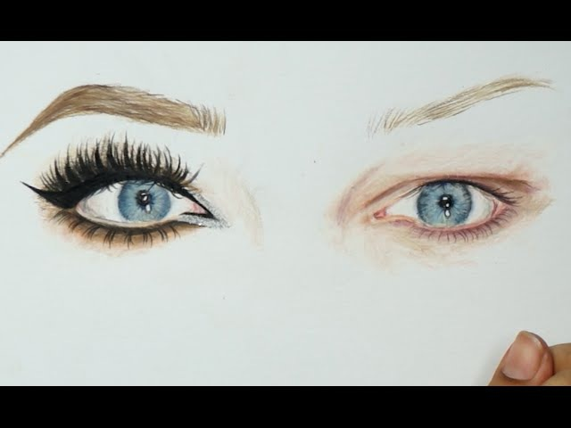 Power of Makeup inspired drawing || NikkieTutorial's eyes timelapse