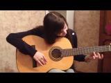 12ти-летняя девочка очень круто играет на гитаре! Настоящий талант!