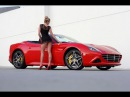 Ferrari California T and Sexy Blonde