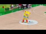 Mascote da Olimpíada dançando olimpiadas 2016
