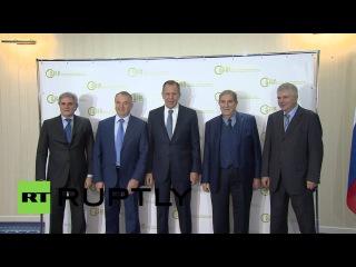 Россия: Лаврова встретился Итальянских лидеров бизнеса в Москве соглашение о сотрудничестве.