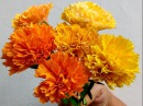 How to make Paper Flowers Marigold / Genda Phool (Flower 73)
