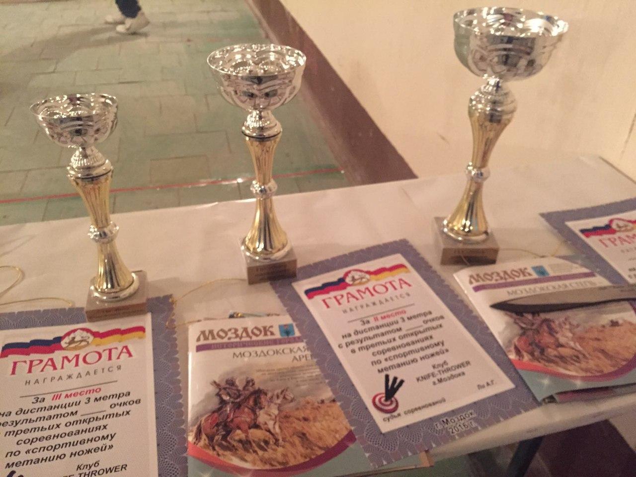 Награды за метание ножей