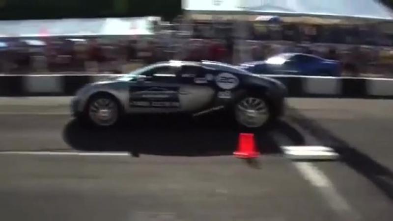 Nissan Juke R SVE VS Ferrari 599GTO VS Bugatti Veyron VS Lamborghini Gallardo LP570-4 SL UGR RACE