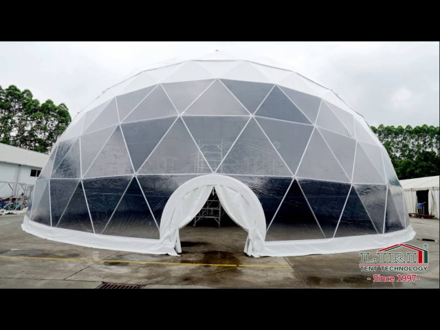 Liri Tent 25m Span Width Geodesic Dome Tent Half Dome Tent for Event Party Installation