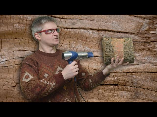 Сушка древесины кругляка или как бороться с трещинами
