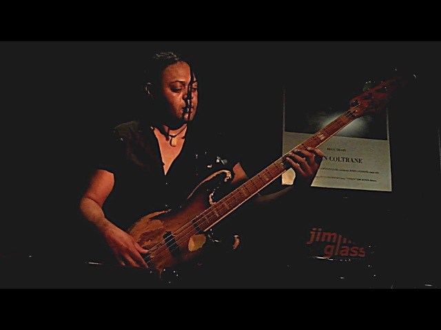 Linley Marthe bass solo at Jimmy Glass Jazz Bar 2016