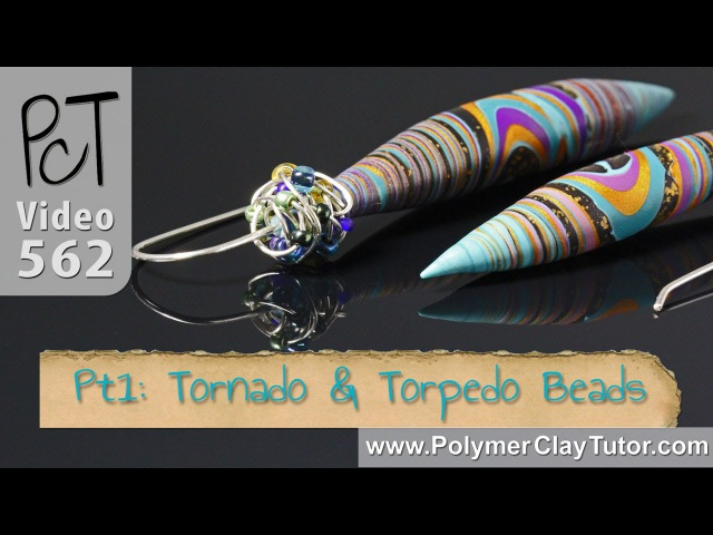 Tornado and Torpedo Polymer Clay Beads Tutorial (Intro)