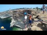 Виктор Мыс Фиолент прыжки с веревкой в Крыму с командой Скайлайн