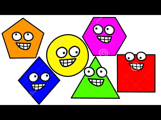 Learn Shapes | Teach Babies Toddlers Shapes in English | Kids Nursery Songs