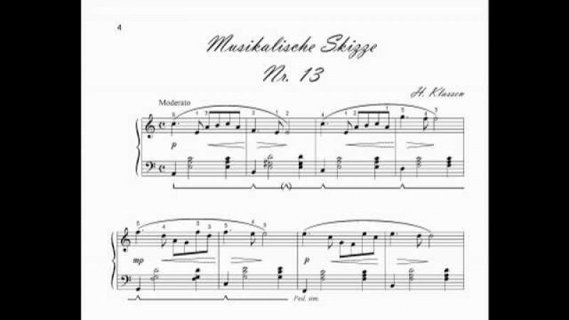 Musical sketch No. 13, Andrej H. Klassen