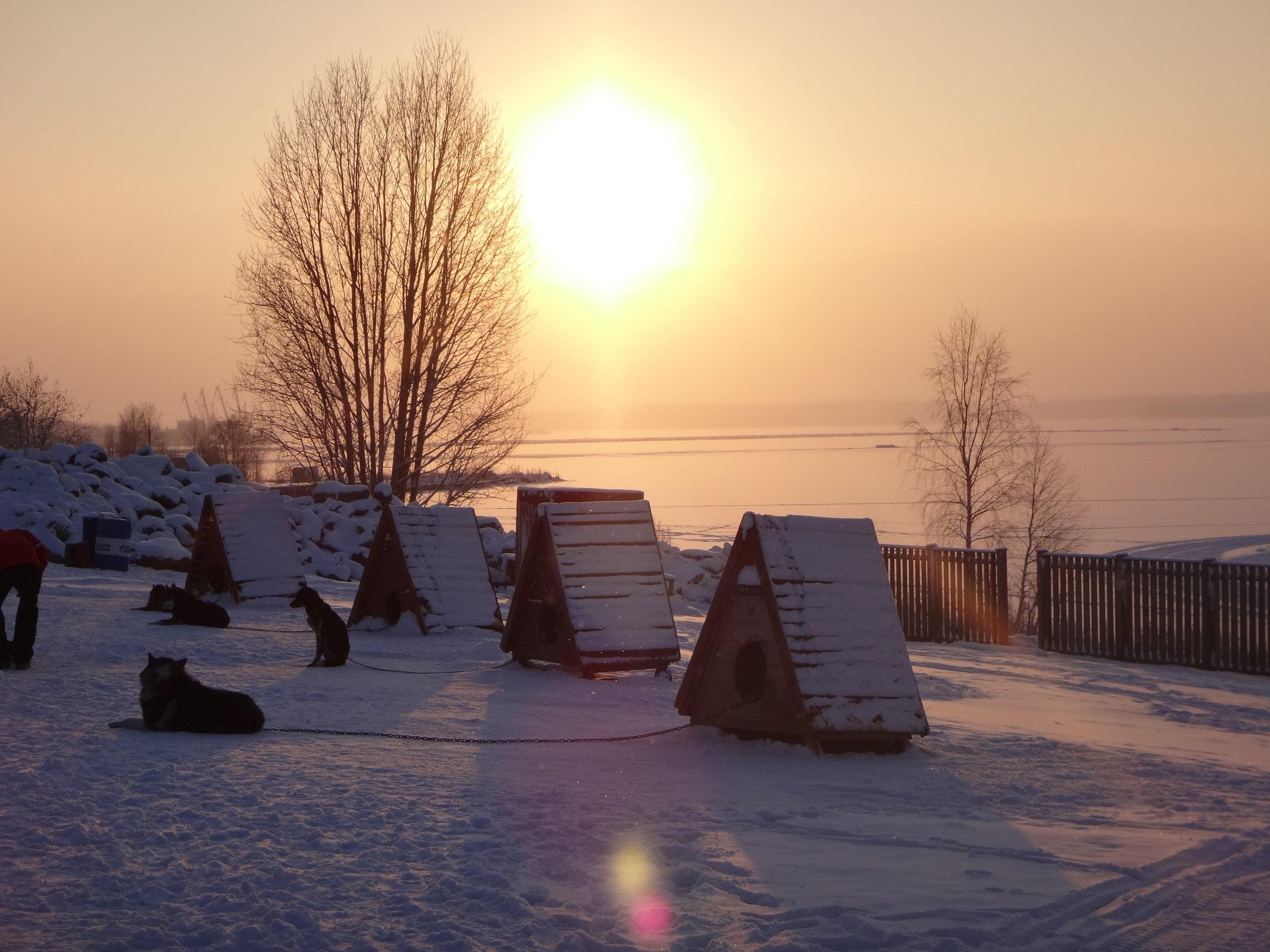 День, когда нам было очень холодно в Карелии.