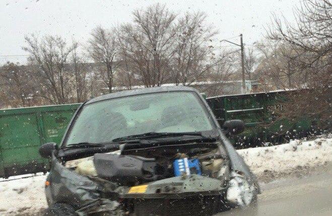 В Таганроге на объездной «Красного Котельщика» 77-ая маршрутка попала в ДТП