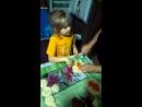 Мое солнышко ,помогает делать пирожки