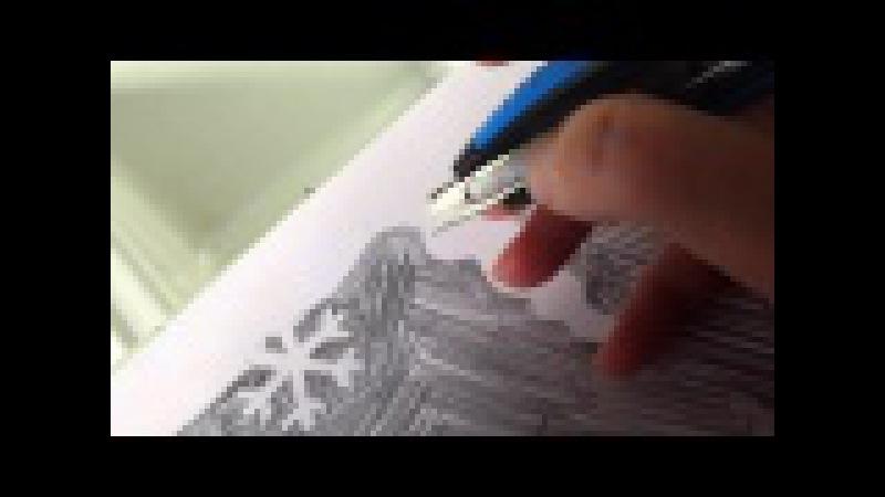 Украшаем окна на Новый год подробности изготовления вытынанок