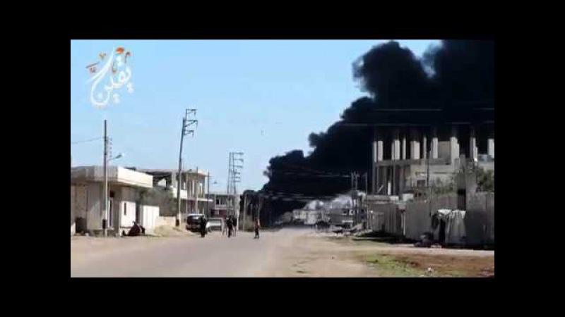 Дымипламя: ВКСРФсожгли склад ГСМ террористов вДараа