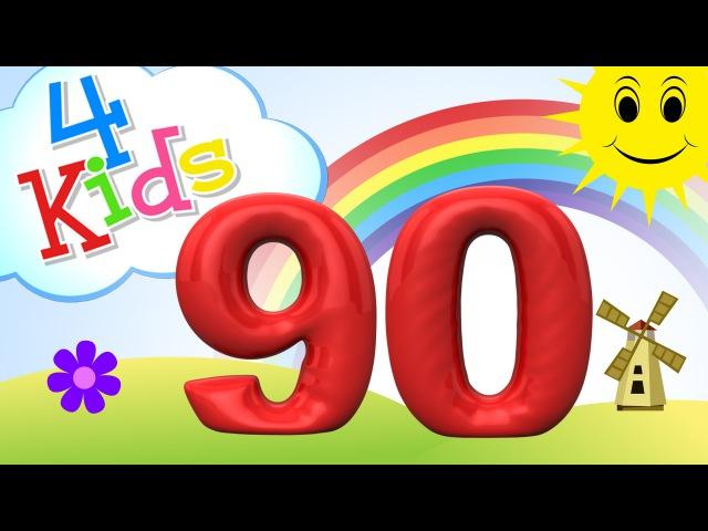 Zahlen lernen für Kinder - zählen von 81 bis 90 (deutsch)
