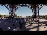 360° La Tour Eiffel || Сферическое видео 360° Эйфелевой башни в Париже