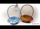 Cómo hacer cestas de papel periódico. How to make newspaper baskets.