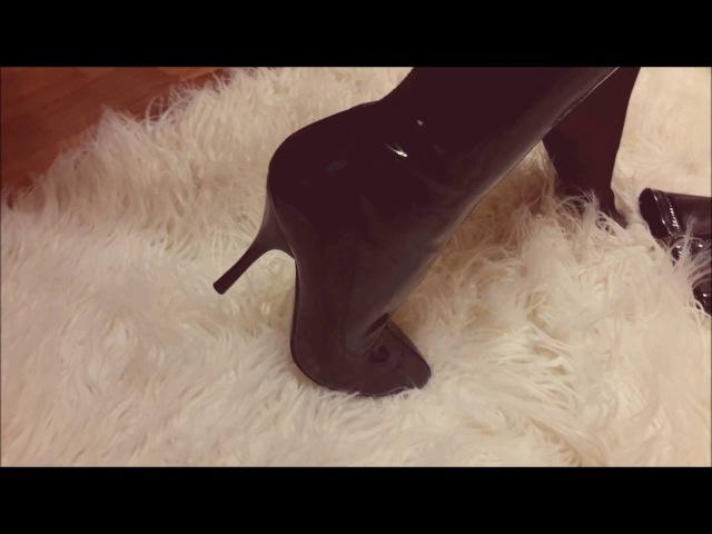 Patent leather boots Лакированные сапожки