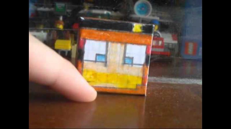 Minecraft Из Бумаги - 194 Голова Фростбола
