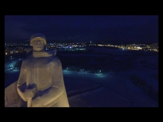 Ночной Мурманск с высоты птичьего полета
