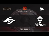 Secret vs  Ad Finem @ TI6 Quals EU, Dota 2