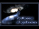 Collision of galaxies. 500 million years old in 3 minutes
