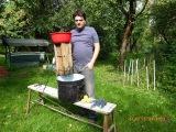 Дробилка для яблок,винограда самодельная