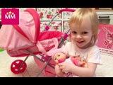 Беби Борн кукла пупс с коляской распаковка Doll pram with baby doll unpacking.Видео для детей