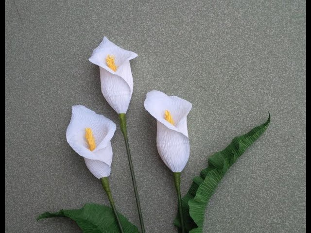 ABC TV | How To Make Calla Lily Flower From Crepe Paper - Craft Tutorial