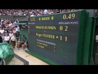 Wimbledon 2011 Round 1 | Roger Federer - Mikhail Kukushkin
