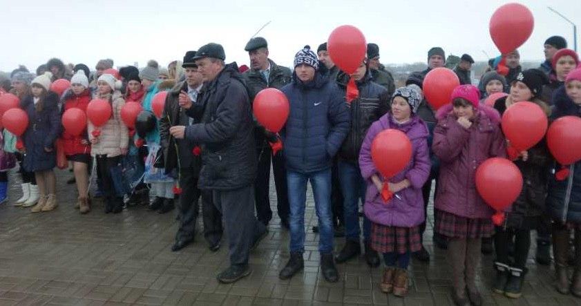 В Михайлове прошла патриотическая акция «Красный тюльпан»