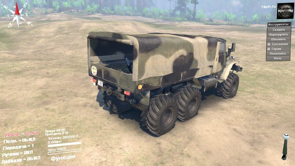 Урал-375 для Spintires - Скриншот 2