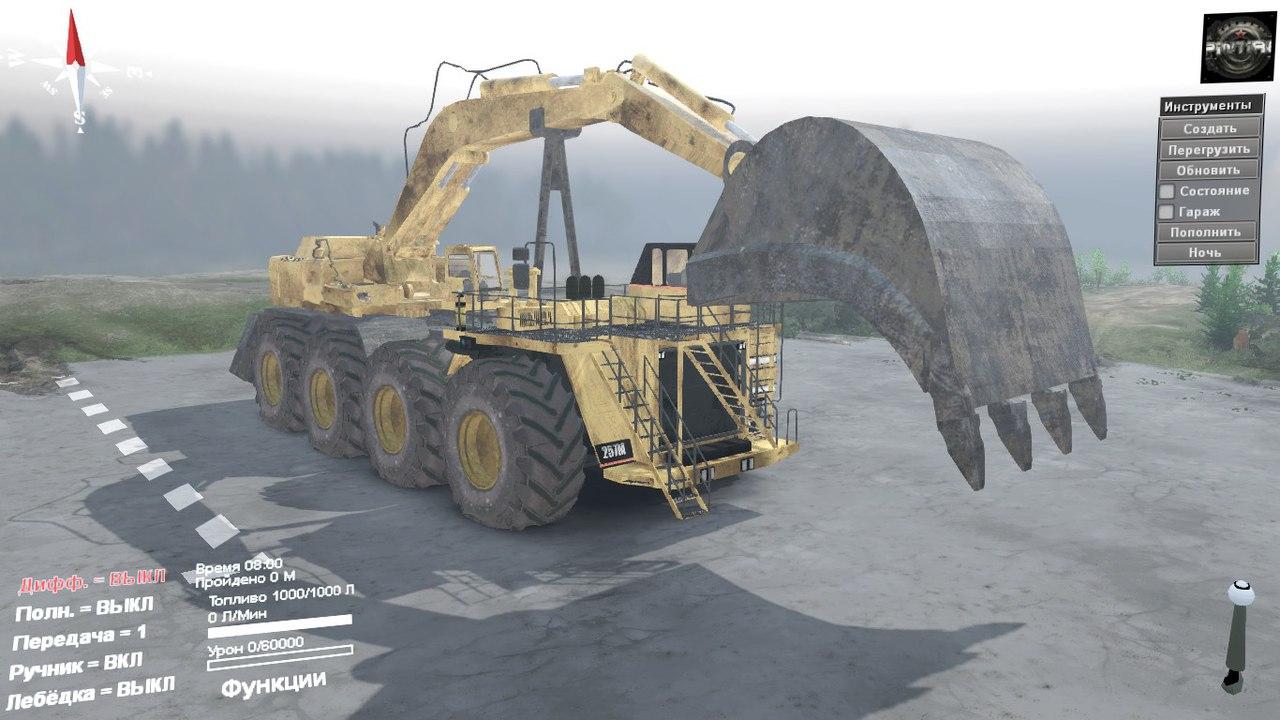Caterpillar 257M 8x8 для SpinTires 03.03.16 для Spintires - Скриншот 1