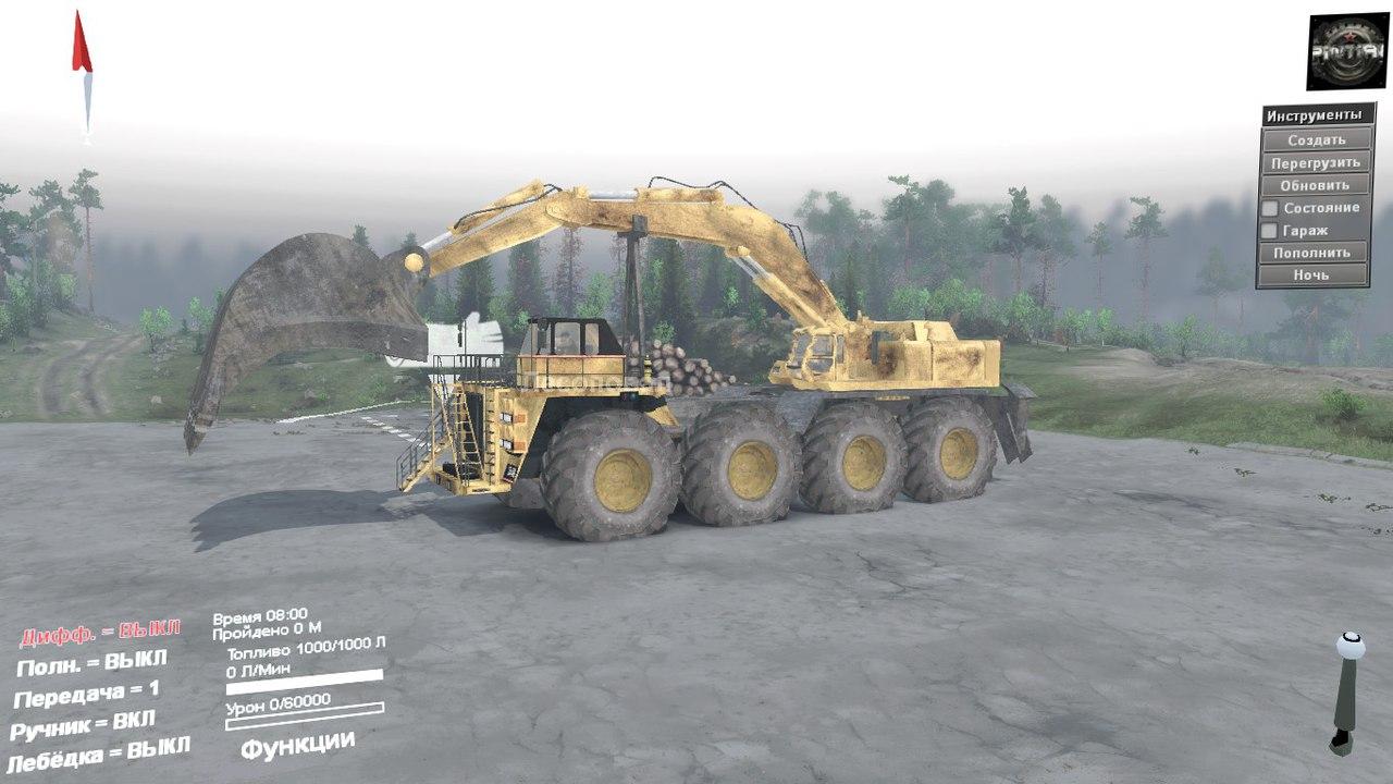 Caterpillar 257M 8x8 для SpinTires 03.03.16 для Spintires - Скриншот 2